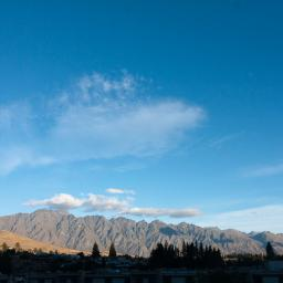 View of the Remarkables, from the room