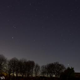 Orion over the cemetery