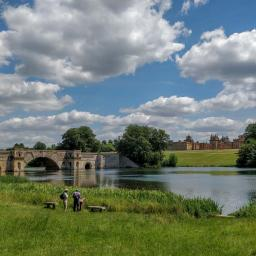 Midsummer's day at Blenheim Palace lake.