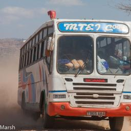 Roadside Tanzania 2009 ~ Buses, bikes and carts