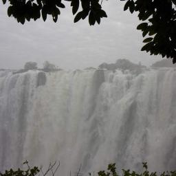 Because of high rains in Angola, the Zambezi is 1m higher than normal for the time of year.