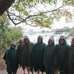 Protective clothing at Victoria Falls