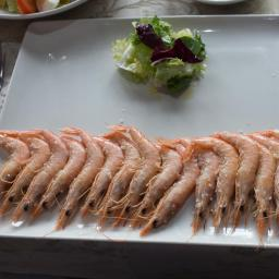 Just a few prawns
